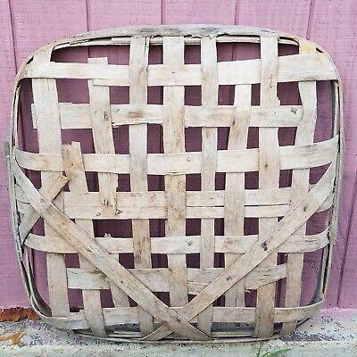 Primitive Tobacco Basket Greeneville Tennessee Tobacciana Handmade Home Decor