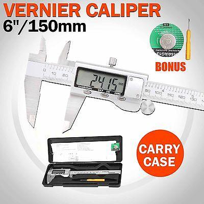 150mm 6inch Vernier Caliper LCD Digital  Electronic Gauge Micrometer Measurement