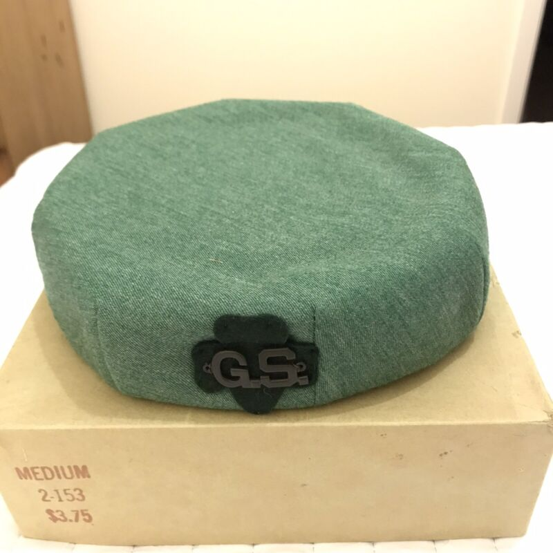 Vintage Girl Scout Hat With Hat Pins