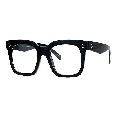 Super Oversized Clear Lens Glasses Thick Square Frame Fashion (Thick Square Glasses)