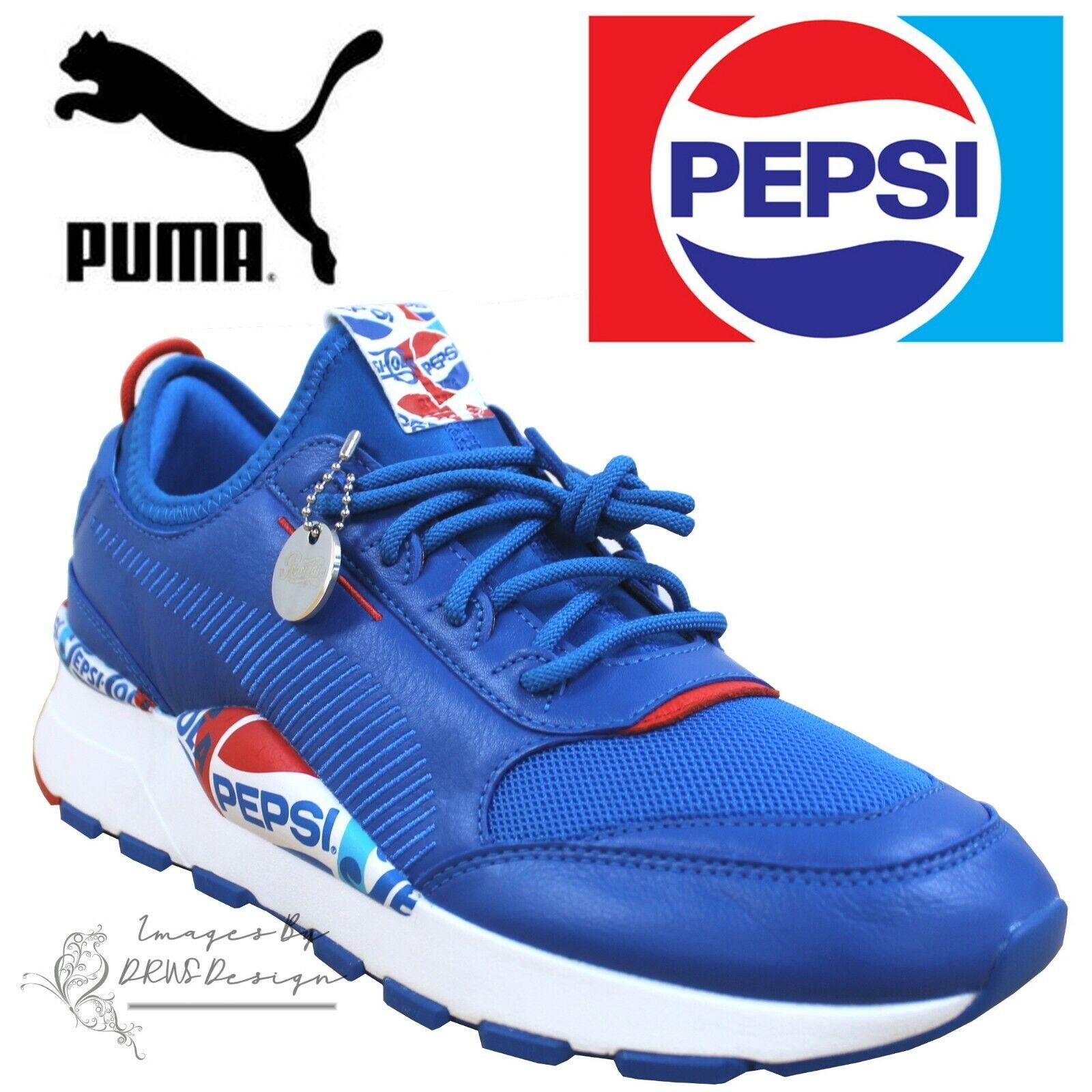 Puma x Pepsi rs 0 HERREN BLAU TURNSCHUHE RETRO RUNNING