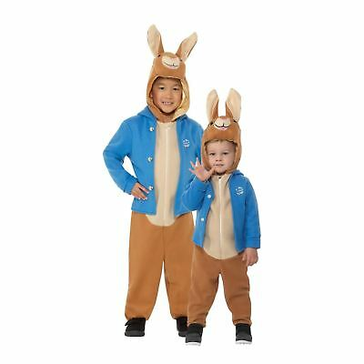 Girls Boys Peter Rabbit Character World Book Day Fancy Dress Costume Toddler  - Boy Book Character Costumes