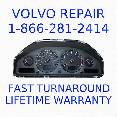 VOLVO INSTRUMENT CLUSTER DIM REPAIR REBUILD S60 V70 S80 XC90 WARRANTY