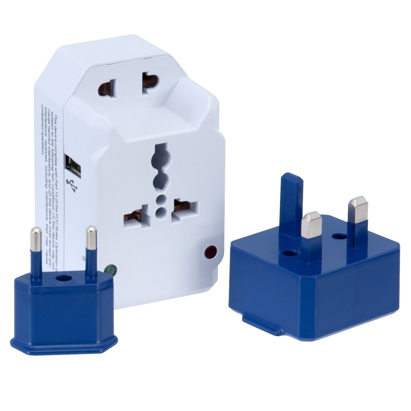 American Tourister All In One Adapter Plug Set With 3 Outlets And USB