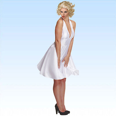Perücke + Kleid Marilyn Gr. M/L VIP für Party  Monroe Fans Karneval Marylin