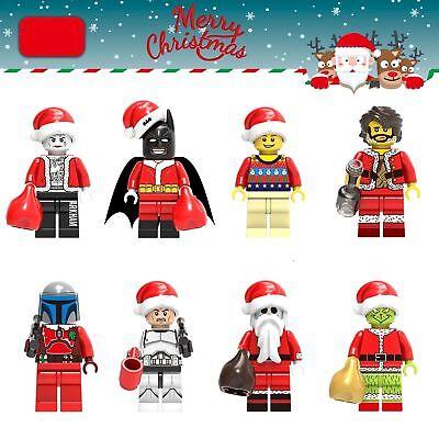Christmas Marvel Super heroes Batman fit Lego Mini figure Kids Gift Toy 8Pcs