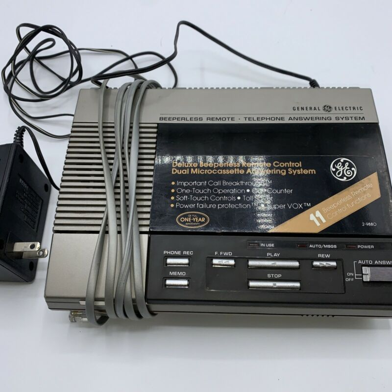 Vintage General Electric Model 2-9880B Tapes! Remote Telephone Answering System