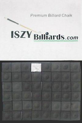 Premium Pool Table Billiard Cue Chalk 144 Pieces Black