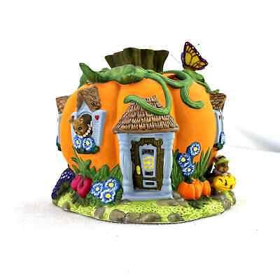 Party Lite Harvest Pumpkin Tea Light House in OG Box P7316 Retired