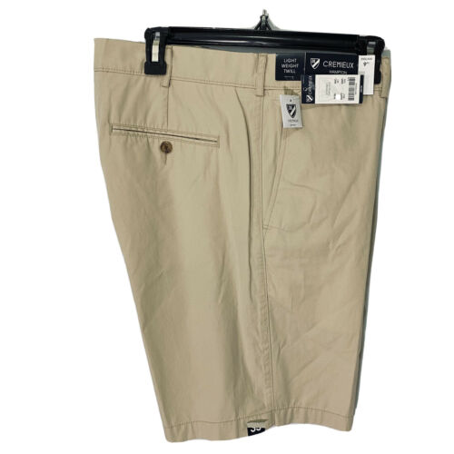 """Cremieux Mens Hampton Khaki Shorts 42 Flat Front 9"""" Light Weight Twill Clothing, Shoes & Accessories"""