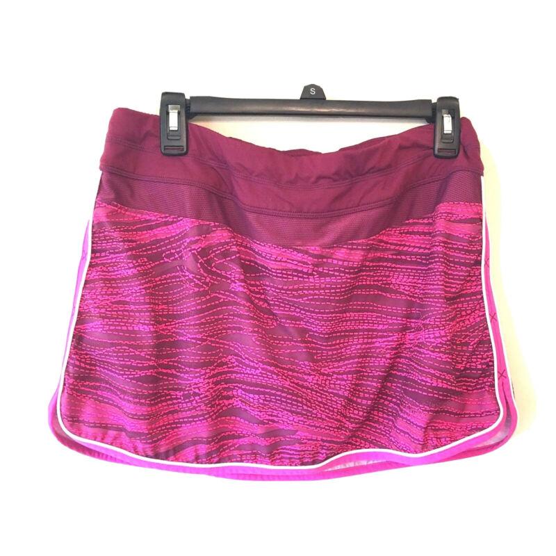 Athleta Size 12 Skort Skirt Shorts Pink Multicolor Athletic.