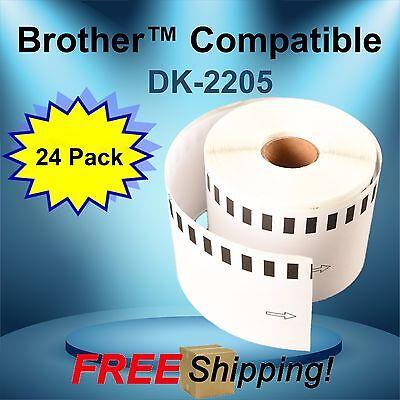 Dk-2205 Brother P-touch Compatible 24 Rolls Ql-500 Ql-1050n Ql-570vm Ql-700