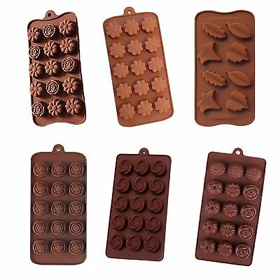 Verity Value Pack Mold Silicone Candy Chocolate Soap Flower Rose Sunflower Leaf