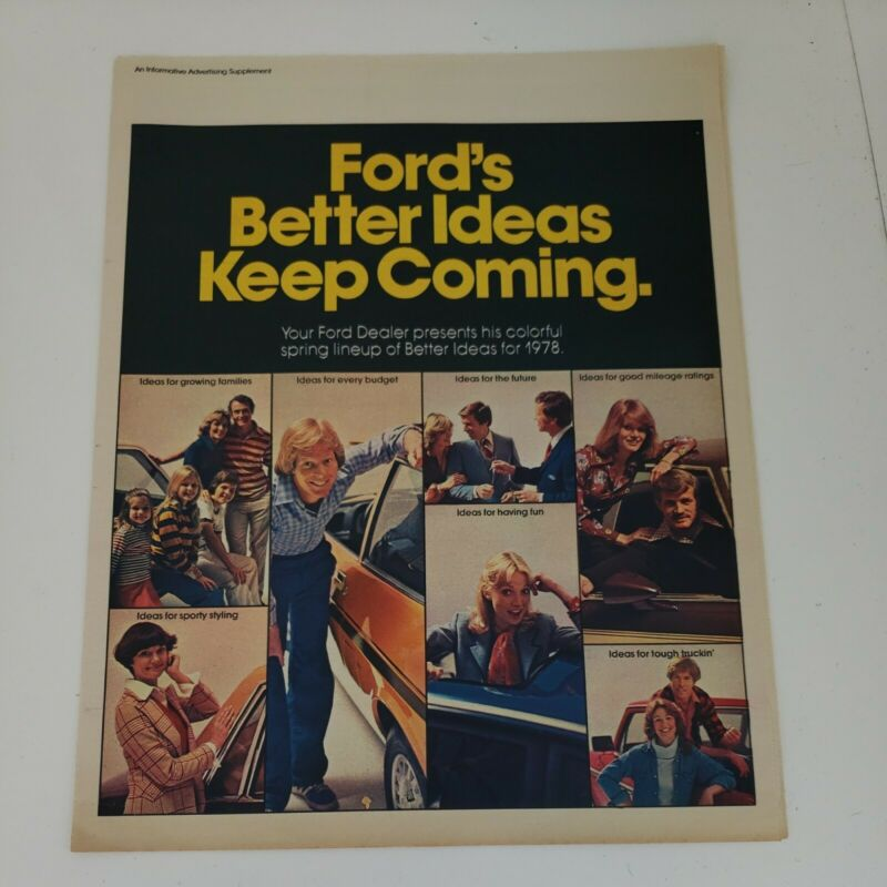 FORD Better Ideas Keep Coming 1978 advertising supplement Chicagoland NICE