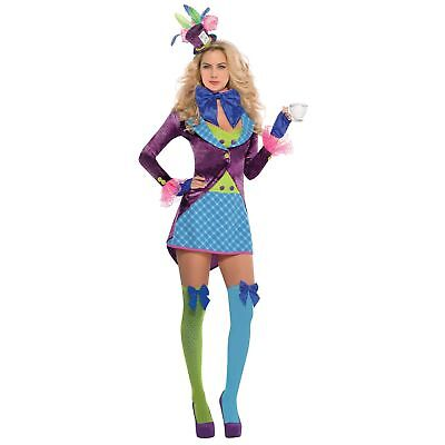 Mad Hatter Wonderland Story Book Womens Ladies Adults Fancy Dress Costume - Womens Mad Hatter Costumes