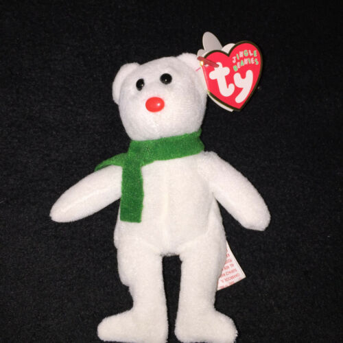 "TY Plush Jingle Beanie ""Lil Freezes"" with His Holiday Scarf w/Tags (2005)"
