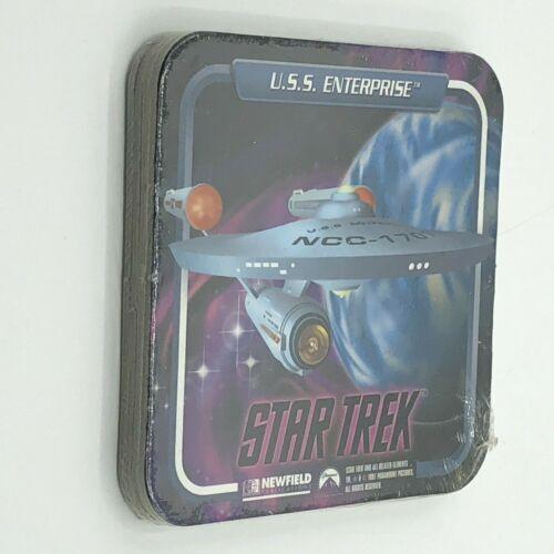 Star Trek Space Ships Set 4 Coasters Newfield 1997 Paramount Pictures Enterprise