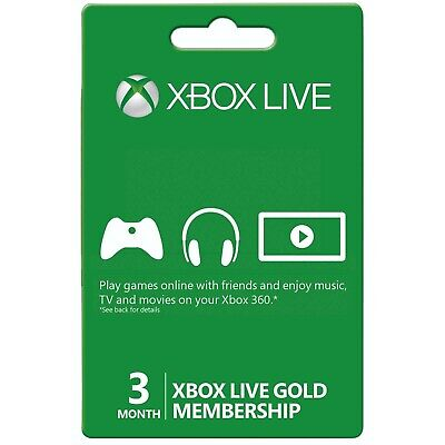 3 months XBOX LIVE GOLD 3 months membership - US Region - instant delivery comprar usado  Enviando para Brazil