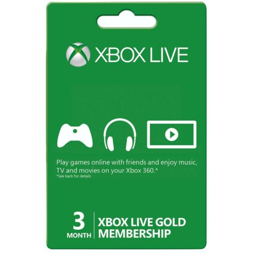 3 months XBOX LIVE GOLD 3 months membership - US Region - instant delivery
