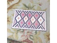 Pat Tyler Dollhouse Miniature Canvas Floorcloth Covering Rug Carpet Red p475