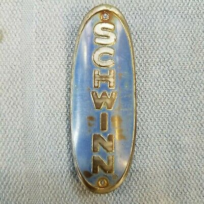 Pilot Bicycle Head badge name plate Emblem Brass Balloon Tire  nos