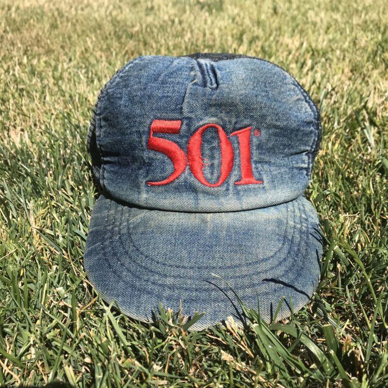 Vintage 1980s Levis Denim Hat
