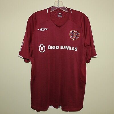 vintage Heart of Midlothian HEARTS 2008-09 home football shirt Umbro Ūkio Bankas image