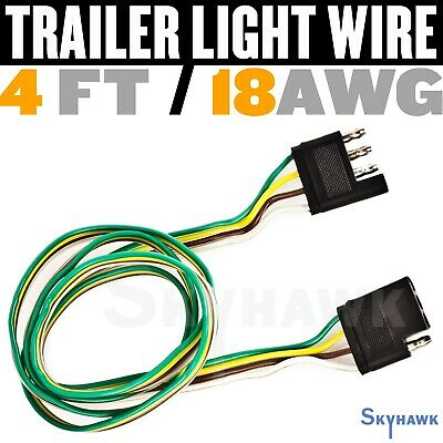 18 Awg 4ft Heavy Duty Trailer Light Wire 4 Ft Extension Male And Female