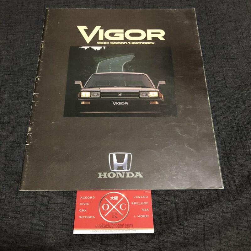 82-85 Honda Accord Brochure Hatchback JDM 83 84 Rare Catalog Vigor Sedan Vintage