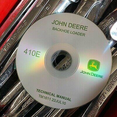 John Deere 410e Backhoe Loader Technical Service Repair Manual Tm1611 22jul10 Cd