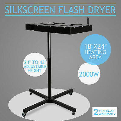 18 X 24 Flash Dryer Silkscreen T-shirt Printing Curing Adjustable Height