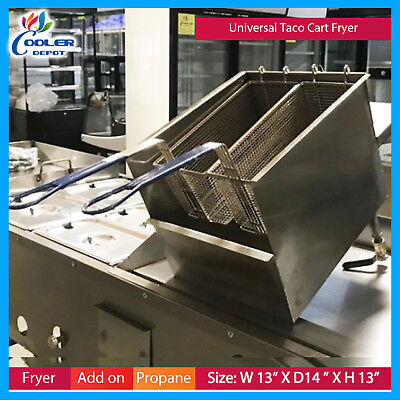 Taco Cart Deep Fryer Universal Compatible With Any Cooler Depot Fry Fries Fish