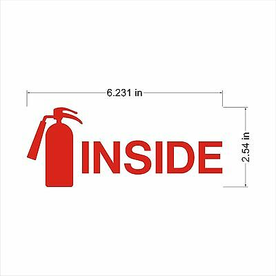 Industrial Safety Decal Sticker Fire Extinguisher Inside Fire Label Graphic