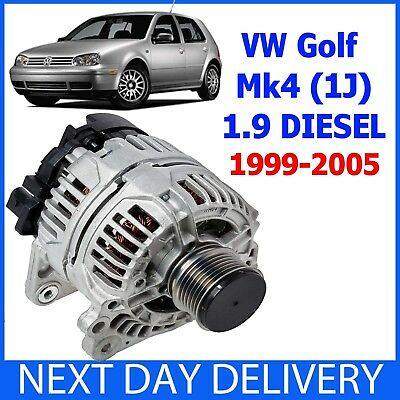 VV GOLF MK4 1J 19 TDI SDI DIESEL 1999 2005 NEW 90amp ALTERNATOR WITH PULLEY