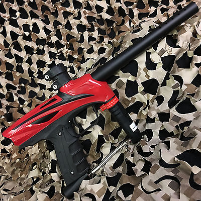 New Gog Enmey Semi Auto  68 Cal Mechanical Paintball Gun   Racer Red Black