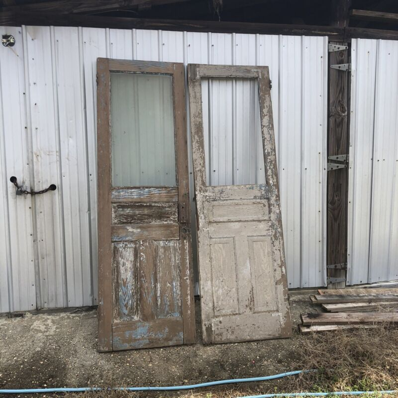 ~ ANTIQUE DOUBLE ENTRANCE DOORS  ~ EACH ARE 30 INCHES WIDE AND 64 INCHES TALL