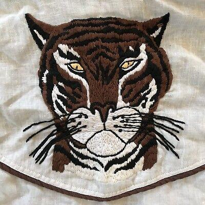 1970s Mens Shirt Styles – Vintage 70s Shirts for Guys Vintage 1970s Tiger Embroidered 70s Shirt Medium $95.00 AT vintagedancer.com