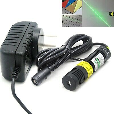 532nm 100mw Focus Line Laser Module Locator Green Diode 18x75mm 5v Adapter