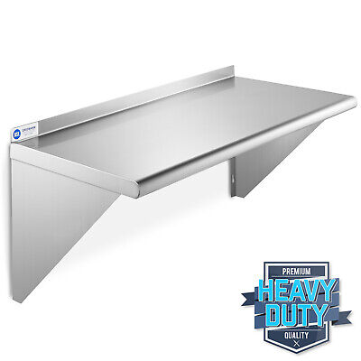 Nsf Stainless Steel 12 X 24 Commercial Kitchen Wall Shelf Restaurant Shelving