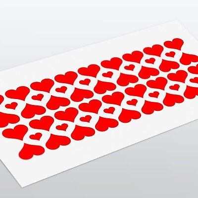 58x Love Hearts Decal Stickers Valentines Window Wall Fridge Laptop Home Decor