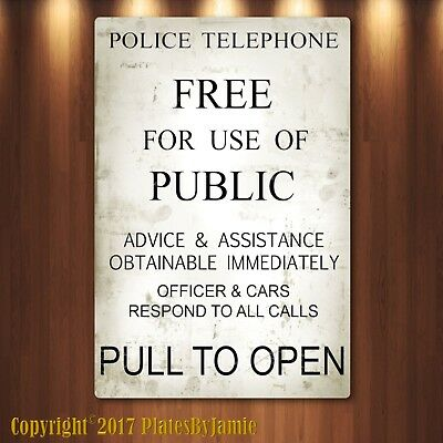 Novelty Box - Doctor Who Tardis Police Box Novelty Aluminum Sign, TARDIS, new
