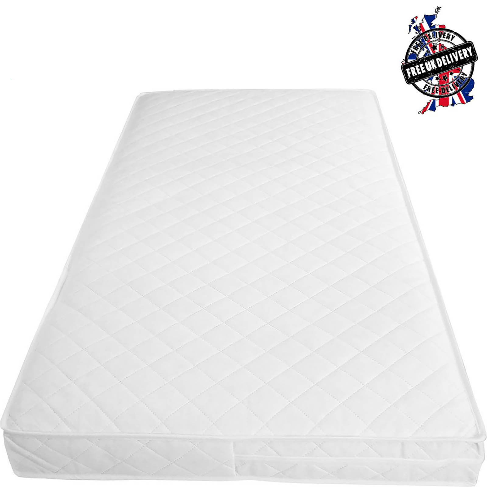 new concept 423a9 d2d06 Baby Toddler Cot Bed Breathable QUILTED AND WATERPROOF Foam Mattress All  Sizes