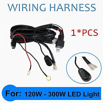 Wiring Harness Switch Relay Kit 14V 40A for 72W~300W LED Work Driving Light Bar