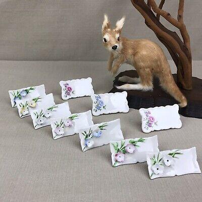 Lot of Formal Porcelain Name Place Cards Vintage Shafford Japan Rose Floral -
