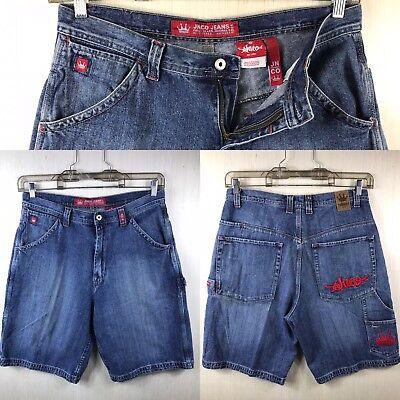 (vintage Jnco carpenter jean Shorts Mens Size 38 38x12 distressed :)#)