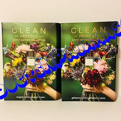 LOT of 2~Clean Reserve AVANT GARDEN Collection GALBANUM & RAIN + MUGUET & SKIN - Avant Garden Collection