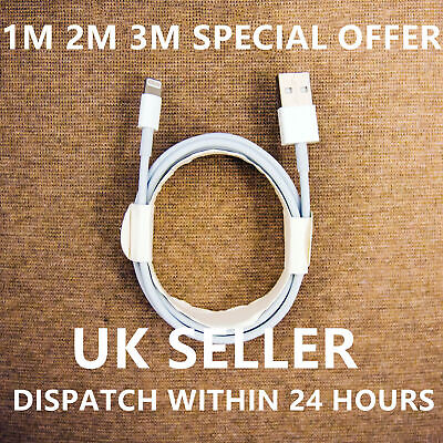 Apple iPhone Charger Cable 2M Changing Lead 1M Lightning To USB Cable Long Fast