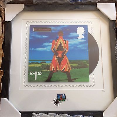 Royal Mail David Bowie Framed Earthling Stamp & High Quality Giclée Print LE950