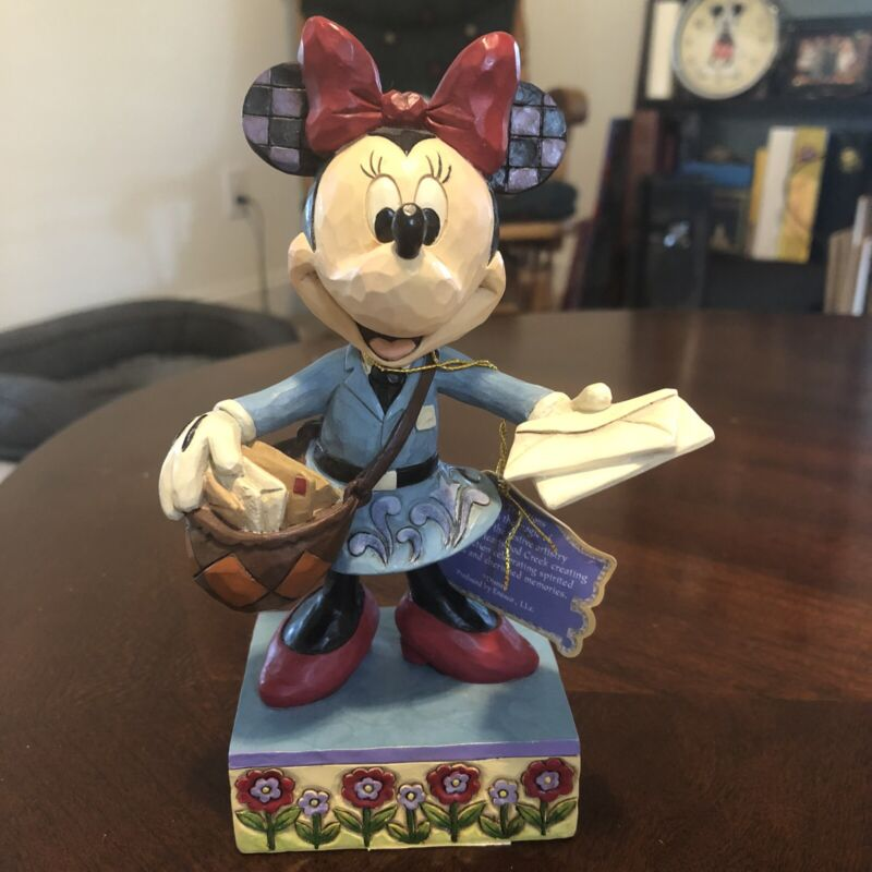 Jim Shore Disney Minnie Mouse Figurine Special Delivery Mail Lady