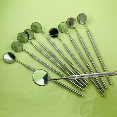 10mirrorhandle No.4 Stainless Steel Dental Oral Hygeine Mouth Mirror Reflector
